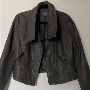 Cusp by Neiman Marcus Dark grey leather jacket